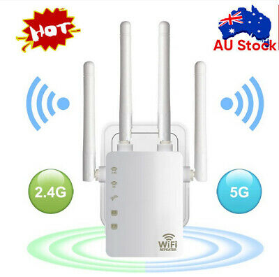 AU45.99 • Buy WiFi Range Extender Dual Band 2.4/5GHz Wi-Fi Signal Booster Wireless Repeater