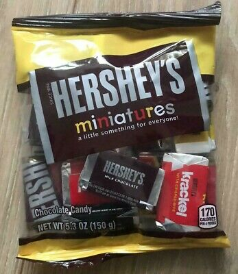 £5.99 • Buy Hershey's Miniatures Chocolate Bags 150gm -American Sweets-USA Import