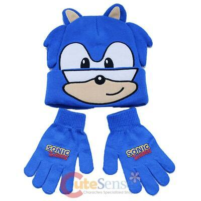 £22.78 • Buy Sonic The Hedgehog Beanie Hat Knitted Winter Cap With Gloves