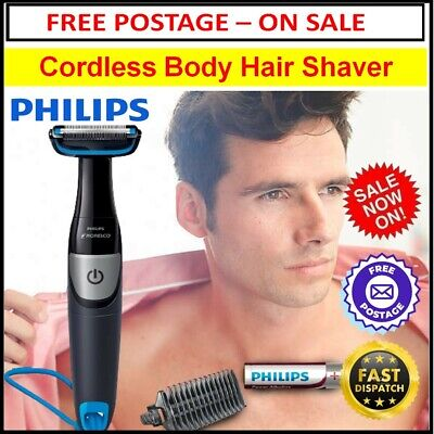 AU53.80 • Buy Body Hair Shaver Mens Cordless Hair Trimmer Legs Arms Chest Portable Shaving