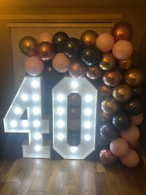 4ft High Illuminated Marquee Style Letter's & Numbers Finished In White • 140£