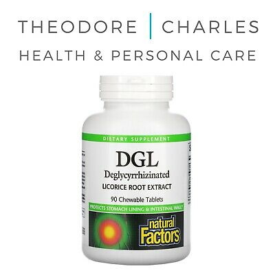 Natural Factors, DGL, Deglycyrrhizinated Licorice Root Extract, 90 Chewable Tabs • 14.99£