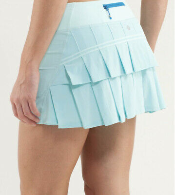 $ CDN50.74 • Buy Lululemon Pace Setter Skirt Skort Aquamarine Blue Tennis Sz 10 Regular