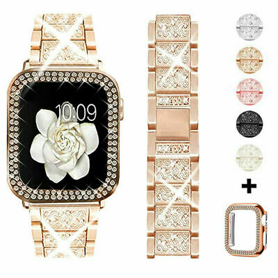 AU6.99 • Buy Bling IWatch Strap Case For Apple Watch Band Series 6 5 4 3 2 1 SE 38 40 42 44mm