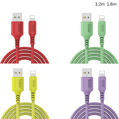 For Apple IPone IPad Mini USB Charger Liquid Silicone Charging Sync Data Cable • 3.19£
