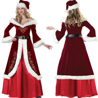 £19.99 • Buy Womens Santa Claus Christmas Fancy Dress Xmas Ladies Mrs Cosplay Costume Outfit