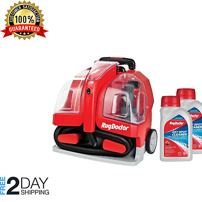 Rug Doctor Portable Spot Carpet Cleaner 2 X 250ml Spot Cleaning Solution Pet • 179.99£