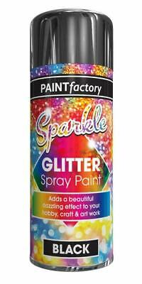 Sparkle Glitter Effect Spray Paint Can Black Craft Art Decoration Hobby - 200ml  • 5.75£