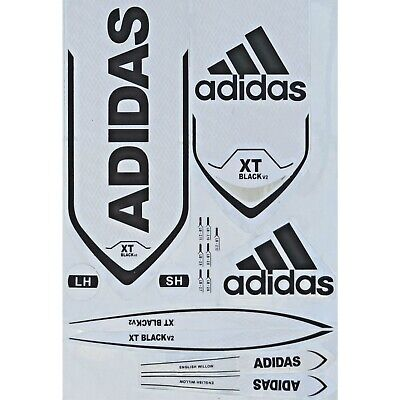 Adidas XT Black V2 Cricket Bat Sticker 3D Embossed + AU Stock + Free Shipping • 13.84£