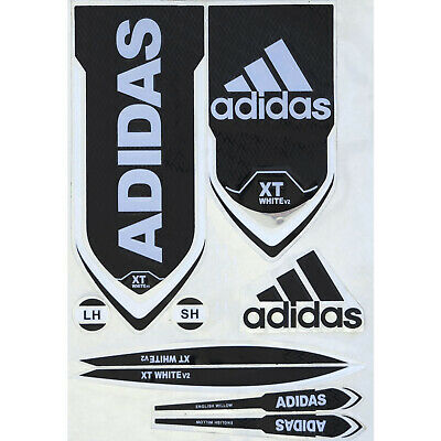 Adidas XT White V2 Cricket Bat Sticker 3D Embossed + AU Stock + Free Shipping • 13.84£