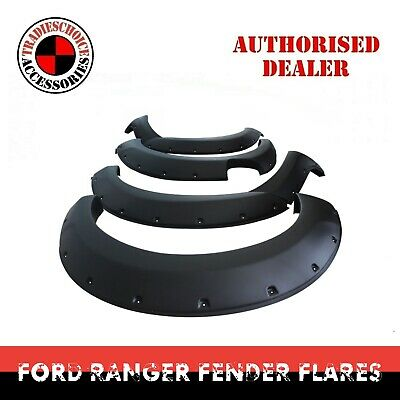 AU295.99 • Buy Fender Flares Matte Black For Ford Ranger PX2 2015 2016 2017 2018 Guard Trim