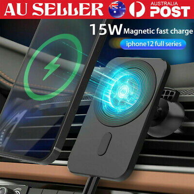 AU30.99 • Buy Car Mount Wireless Charger +MagSafe For IPhone 12/12 Pro/12 Mini/12 Pro Max AU