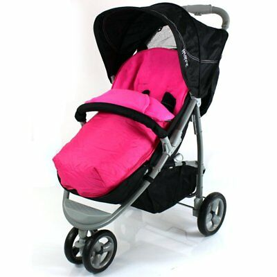 £9.95 • Buy New Baby Footmuff Raspberry Pink With Pouches Fits Quinny Zapp Petite Star Zia