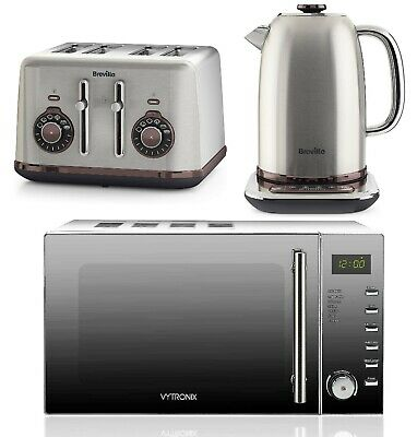Breville Temperature Select Electric Kettle & Toaster Digital Microwave VYTRONIX • 299.99£