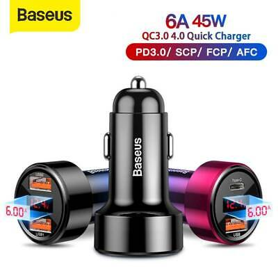 AU15.75 • Buy Baseus 45W Quick Charge Car Charger Type-C PD 3.0 USB QC 4.0 For Samsung Google