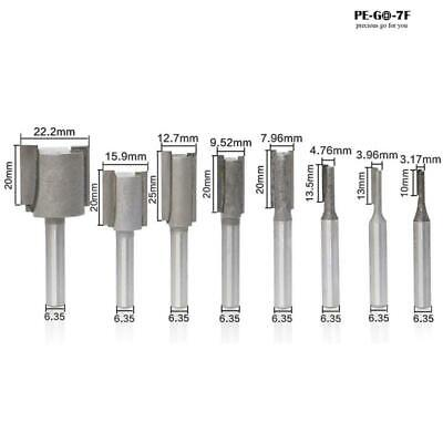 £11.55 • Buy 8Pcs 1/4 Shank Straight Slotted Router Bit For Woodworking Cutter Set 6.35mm
