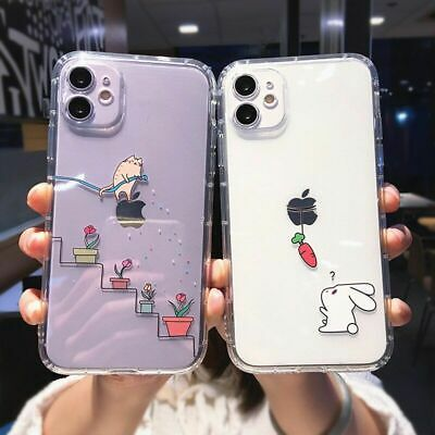 AU12.62 • Buy Creative Cartoon Phone Case Cute Rabbit Cat Animal Cover For IPhone 12 11 8 X XS