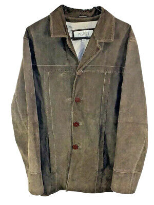 $49.99 • Buy Mens Wilsons Leather M Julian Jacket | Size Large | Brown Outerwear Coat Top