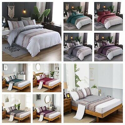 AU28.99 • Buy Ultra Soft Quilt Doona Duvet Covers Set/Sheet Set Double Queen KIng All Size Bed