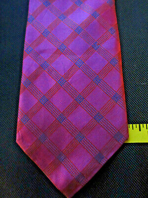 $10 • Buy Robert Talbott Fuschia With Brown And Blue Stripes Tie