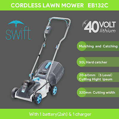 AU249.99 • Buy Swift 40V Cordless Lawn Mower Brushless 32cm Lawnmower With Battery And Charger