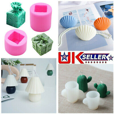 Gift Box Shape Fondant Cake Mold Candle Soap Wax Mould DIY Craft Making Mold • 6.99£