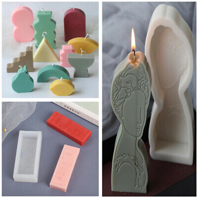 Geometric Shape Candle Mould Simple Line Shape Wax Model Mold DIY Soap Mold Tool • 5.21£