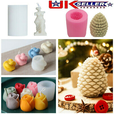 3D Silicone Candle Mold DIY Handmade Aromatherapy Candle Wax Soap Making Mould • 5.48£