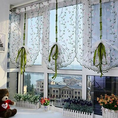 £5.59 • Buy Fresh Hand Embroidered Floral Shade Sheer Voile Door Window Cafe Kitchen Curtain