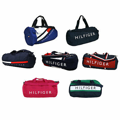 $57.99 • Buy Tommy Hilfiger Duffle Bag Large Duffel Graphic Canvas Tote Bag Travel New Nwt