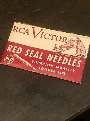 Gramophone Phonograph Needle Packet, Empty, RCA Victor Hmv Nipper Red Seal, Torn • 4.41£