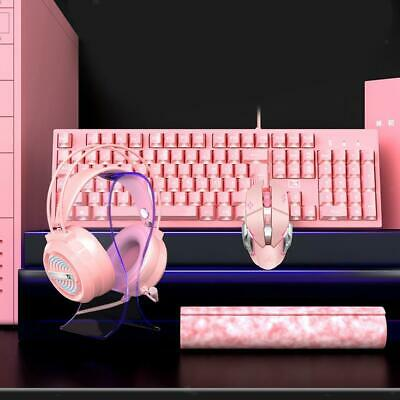AU56.78 • Buy Wired Gaming Keyboard And Mouse Combo, With Gaming Headset & Mouse