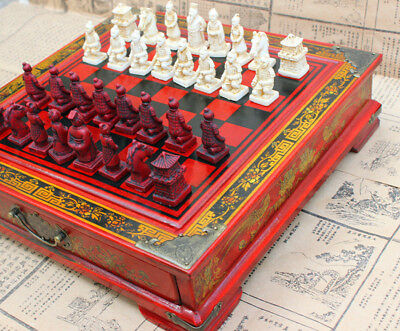 £40.99 • Buy Large Antique Chinese Terra-Cotta Warriors Chess Set Chess Board Chess Gifts