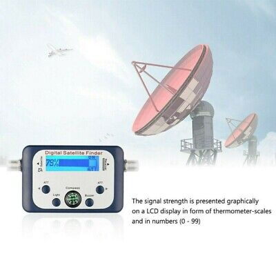 Digital Satellite Finders Signal Strength Meter Satfinder TV Dish FTA LNB SF95DR • 21.56£