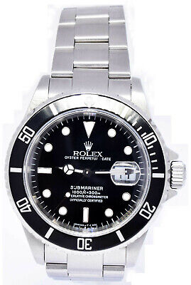 $ CDN11003.52 • Buy Rolex Submariner Date Steel Black Dial/Bezel Automatic Watch W 16610