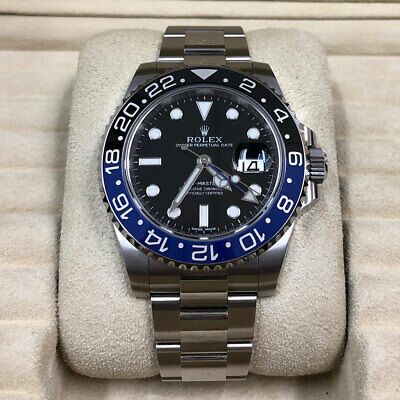 $ CDN23823.74 • Buy Rolex GMT-Master II Batman Oyster Bracelet 40mm Watch Ref 116710 With CARD