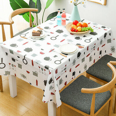 AU11.14 • Buy Rectangle Table Cover Tablecloth Oil-Proof Waterproof For Kitchen Dining Table