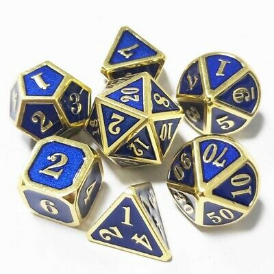 AU20.75 • Buy 7Pcs/Set Metal Polyhedral Dice For DND RPG MTG Role Playing Tabletop Game