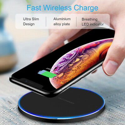 AU13.99 • Buy Wireless FAST Charging Pad Charger 15W Qi For IPhone 11 Pro XS Max XR Samsung AU