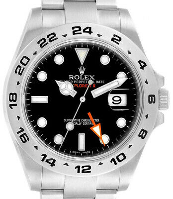 $ CDN12201.96 • Buy Rolex Explorer II Stainless Steel Black Dial Mens 42mm Automatic Watch 216570