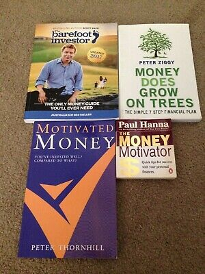 AU27.50 • Buy 4 X Aussie Finance Books: The Barefoot Investor & Money Does Grow On Trees Peter