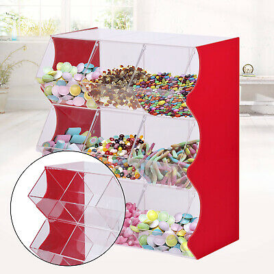 Mix Dispenser & Stacking Pick Wedding Acrylic Sweet Display Stand Candy Box UK • 164£