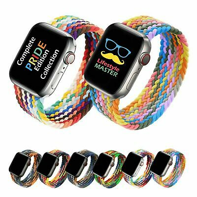 AU12.99 • Buy Braided Solo Loop Elastic Band Strap For Apple Watch IWatch SE Series 6 5 4 3 21