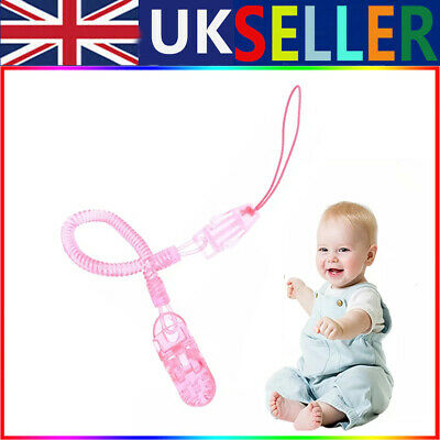£4.99 • Buy 2X Dummy Clip Baby Soother Clips Teething Baby Chain Holder Pacifier Strap UK
