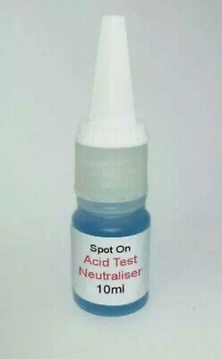 Acid Test Neutralising Solution To Be Used WithGold Silver Platinum Testing Kits • 2.50£