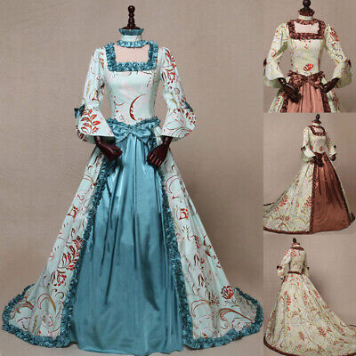 £36.99 • Buy Medieval Renaissance Women Palace Vintage Victorian Dress Gown Cosplay Costume
