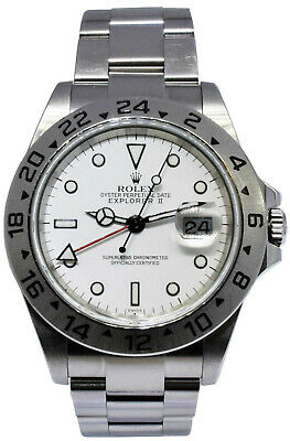 $ CDN10491.52 • Buy Rolex Explorer II Steel White Dial Mens 40mm Automatic Watch F 16570 Unpolished