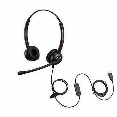 USB Headset With Noise Cancelling Mic PC Headphone For Call Center Skype Chat   • 48.43£