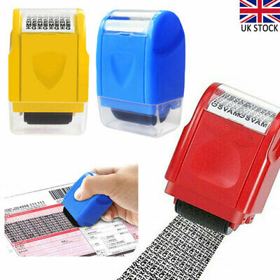ID Theft Protection Stamp Roller Easy Guard Your Data Identity Security Privacy • 6.12£