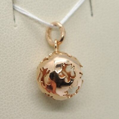Pendant IN Rose Gold 9K, Mexican Bola, With Cord, Roberto Giannotti, NKT110 • 218.66£
